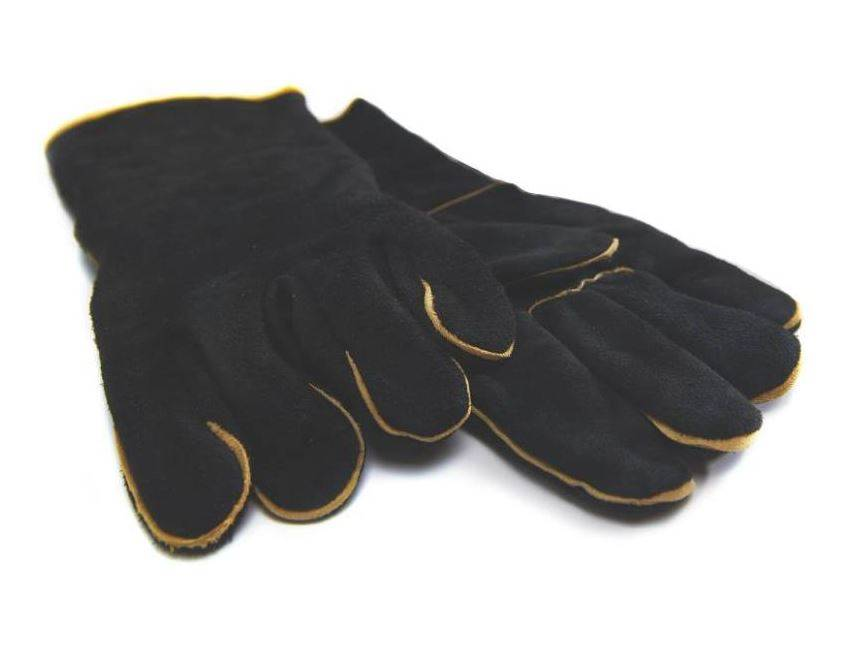 Grill Pro Grillpro 00528 Black Leather Barbecue Gloves