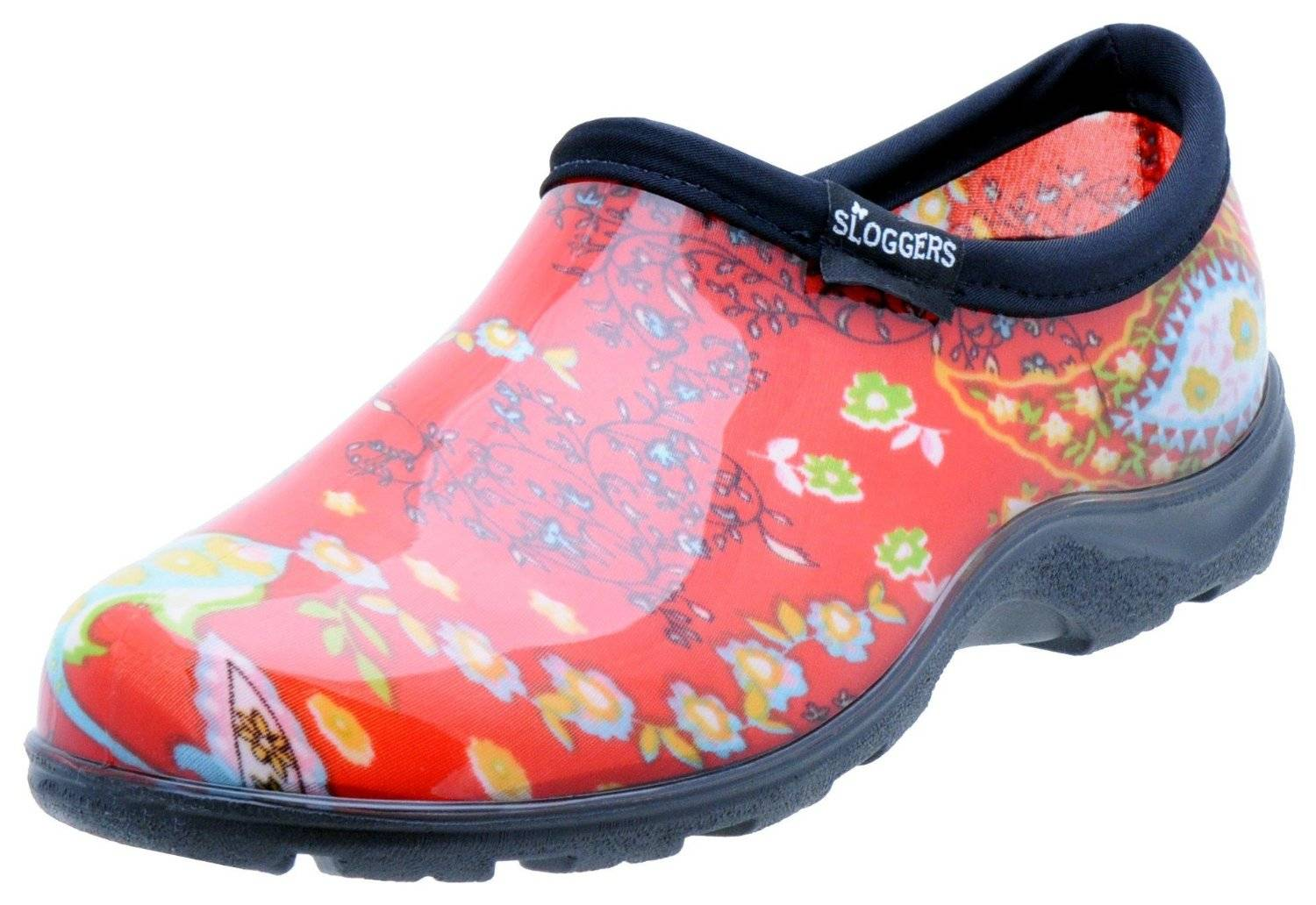 Sloggers 5104rd10 Women's Garden Shoes, Paisley Red, Size 10