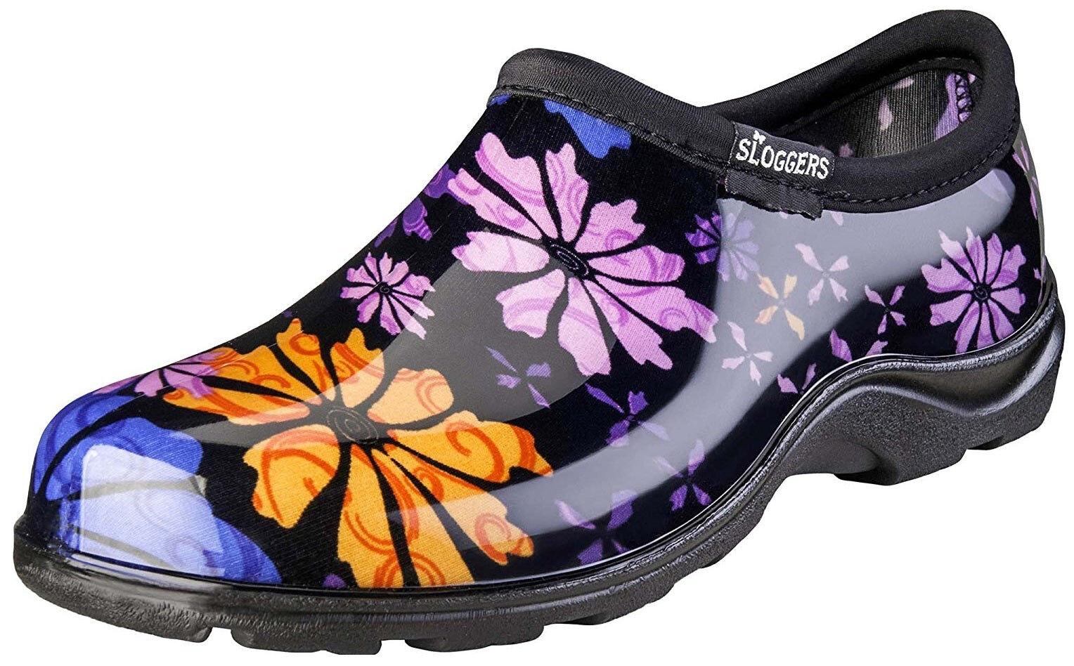 Sloggers 5116fp08 Flower Power Women's Rain And Garden Shoe, Size 8