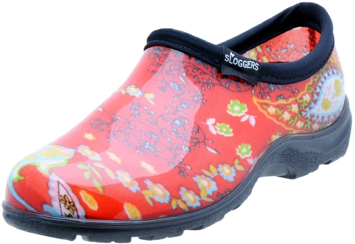 Sloggers 5104rd06 Women's Garden Shoes, Paisley Red, Size 6