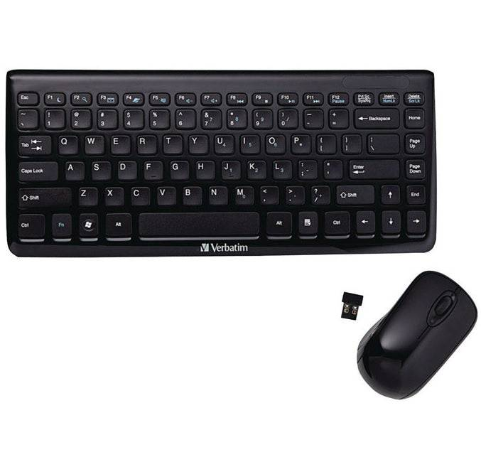 Verbatim Vtm97472 Wireless Keyboard & Optical Mouse, Black