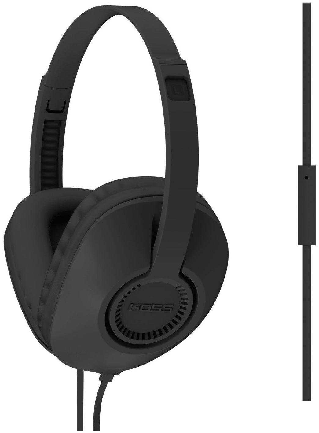 Koss 189270 Adjustable Headphone Stereo Overear, Black