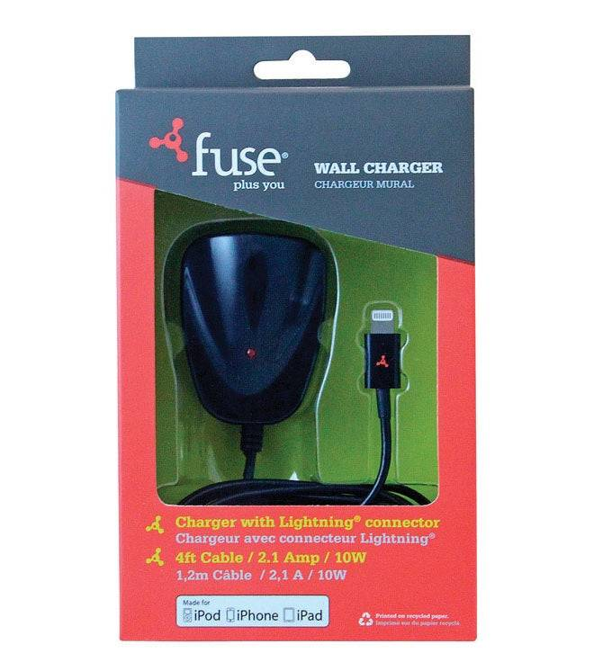 Fuse 06952 I-phone Mfi Wall Charger, Black