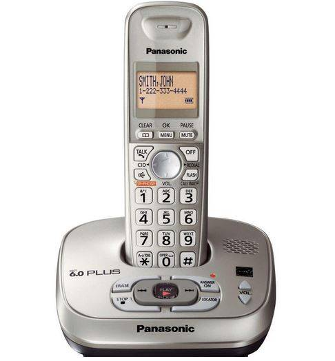 Panasonic Kxtg4021n Expandable Digital Cordless Phone, Champagne Gold