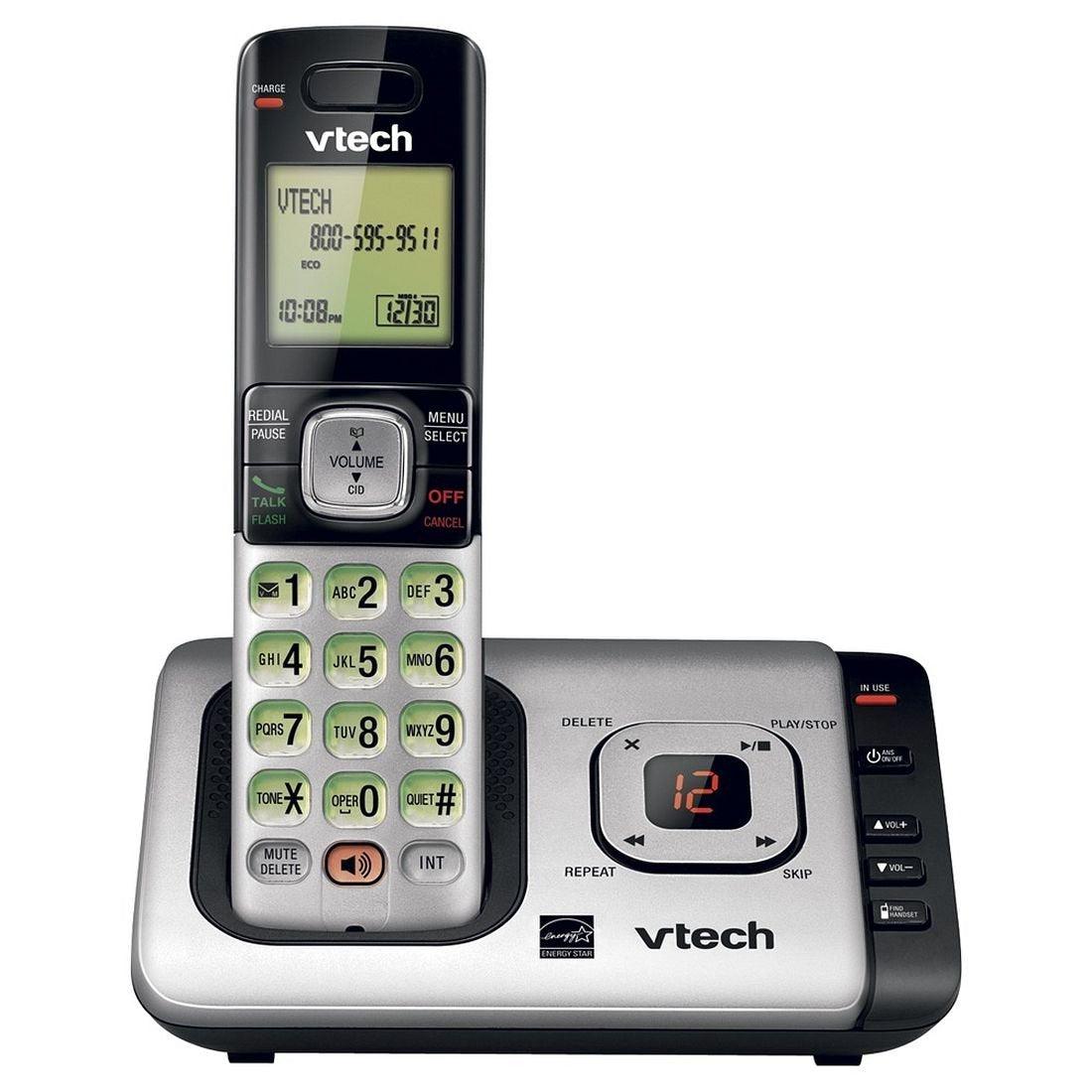 Vtech Cs6729 Cordless Phone & Answering Machine System, Gray