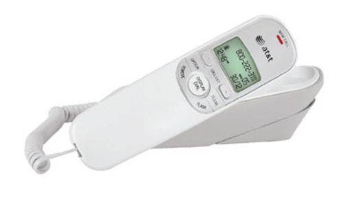 At & t Tr1909white Trimline Corded Phone With Caller Id, White