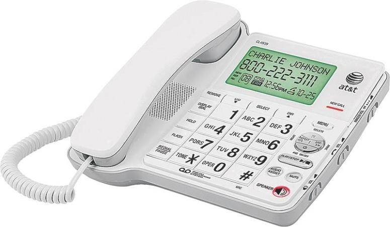 At & t Cl4940 Corded Phone Big Button With Digital Answering System