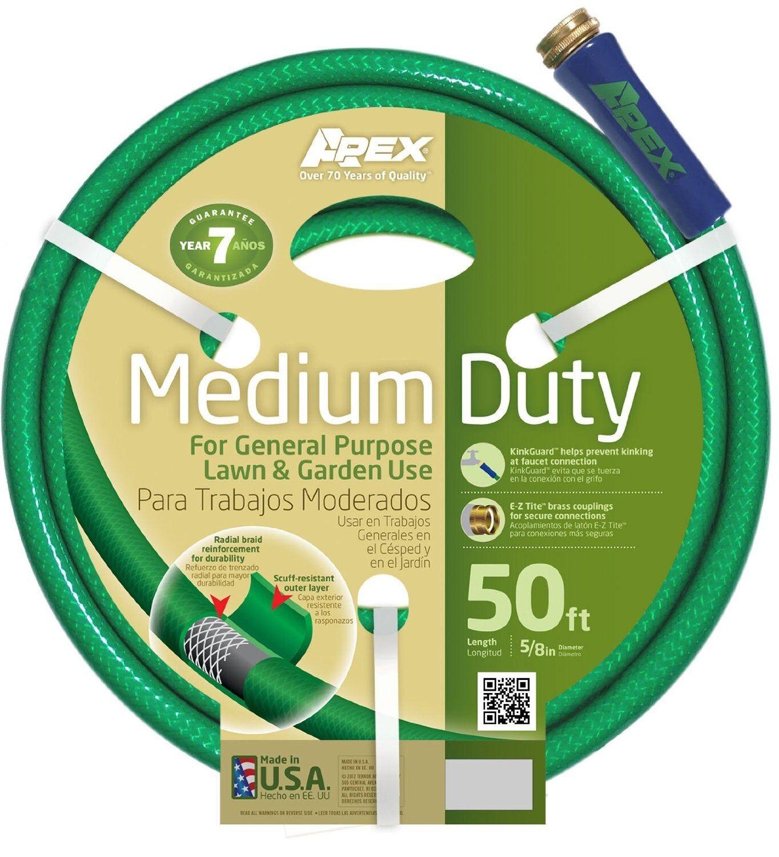 "Teknor Apex 8535-050 Medium Duty Garden Hose, 5/8"" X 50'"