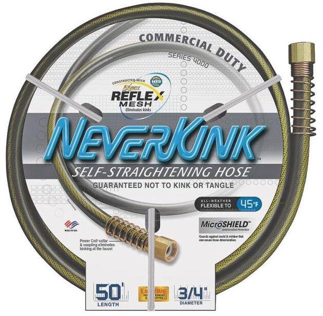 "Apex 9844-050 Neverkink Commercial Duty Garden Hose, 3/4"" X 50'"