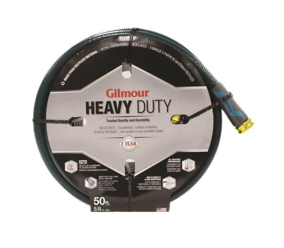 """Gilmour 864501-1001 Heavy Duty Garden Hose, 5/8"""" X 50', 5 Ply Wall Thickness"""