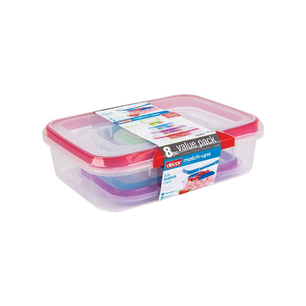 Decor 241432-003 Match-ups Food Storage Container Set, Assorted Colors