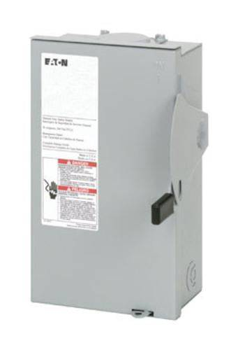 Eaton Dg221nrb Outdoor Fusible Safety Switch, 30 Amp