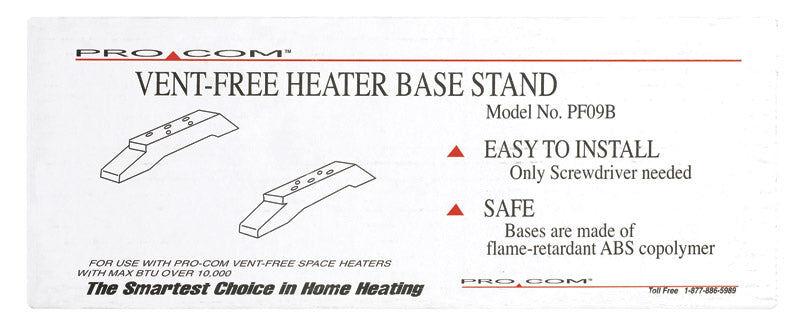 Pro Com Procom Pf09b Base For Vent Free Heater, 10,000 Btu