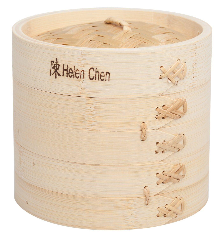 """Helen's Asian Kitchen Helen Chen's Asian Kitchen 97080 Bamboo Steamer, 6"""""""