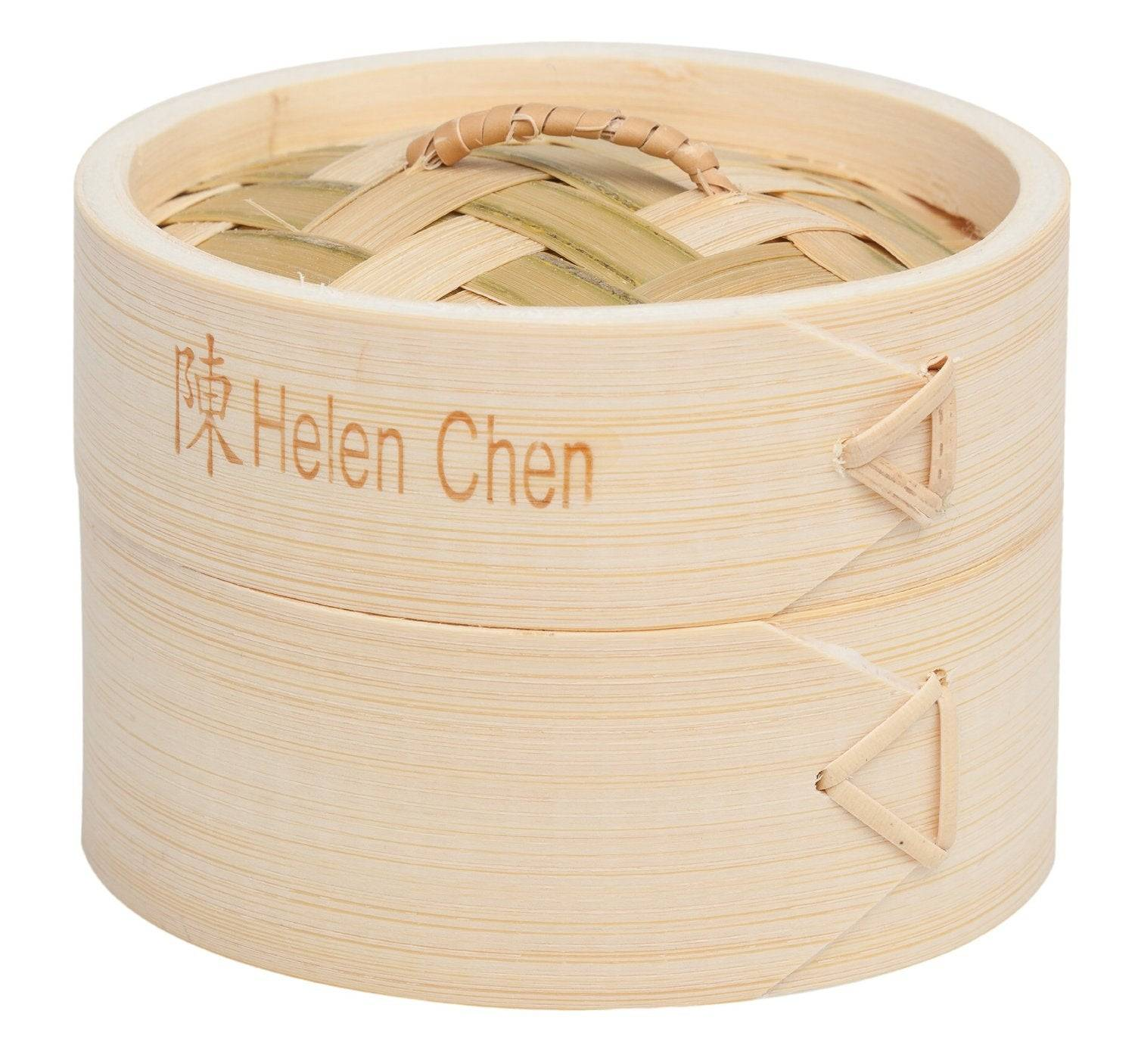 """Helen's Asian Kitchen 97008 Bamboo Dim Sum Steamer With Lid, 4"""""""