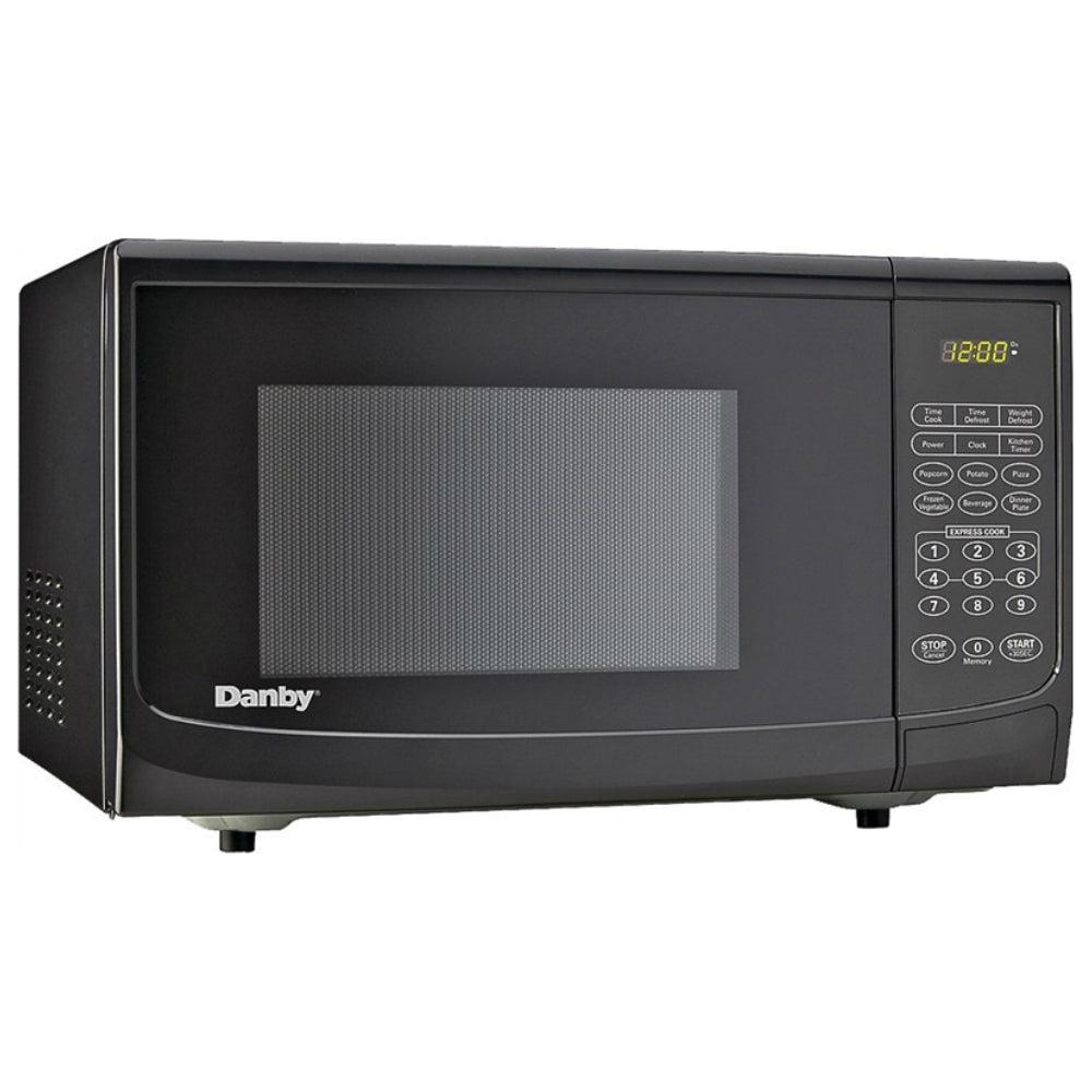 Danby Dbmw0720bbb Countertop Microwave Oven, Black, 0.7 Cu-ft