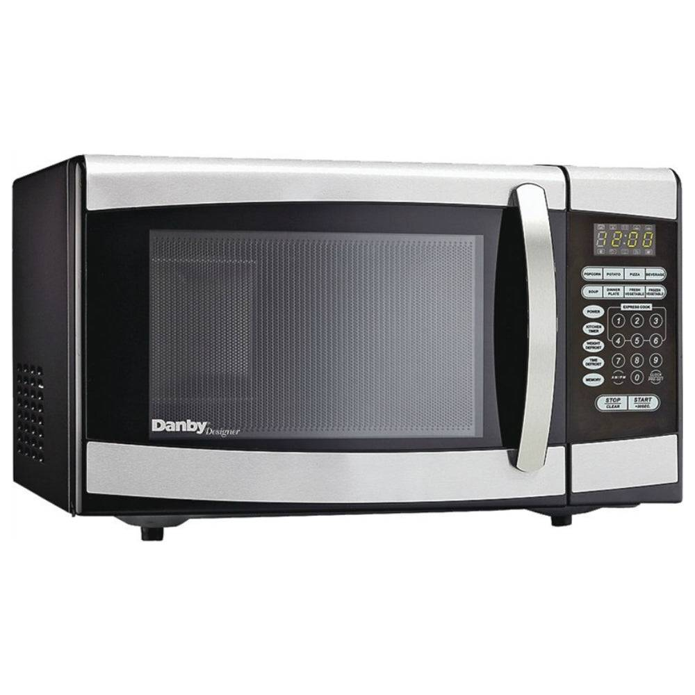 Danby Dbmw0924bbs/dmw09 Microwave Oven, Silver, 0.9 Cu-ft