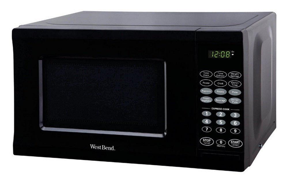 West Bend Em720cpi-pmb Microwave, 0.7 Cu. ft, Black