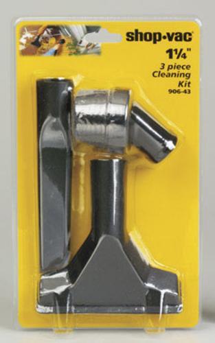 """Shop-vac 9064300 Household Cleaning Kit, 1.25"""", Black, 3 Pcs/pk"""