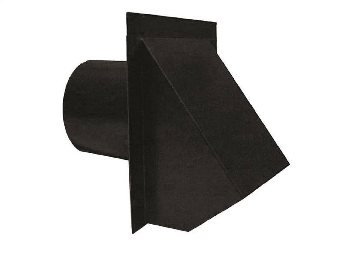 """Master Flow Wva4bl Round Wall Vent, 4"""", Black"""