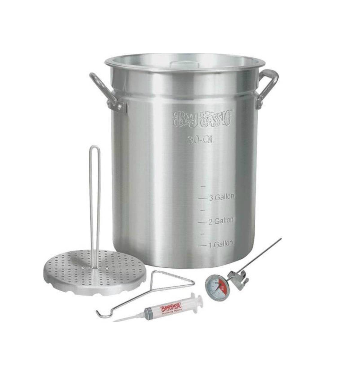 Bayou Classic 3025 Turkey Fryer Pot With Accessories, 30 Quart