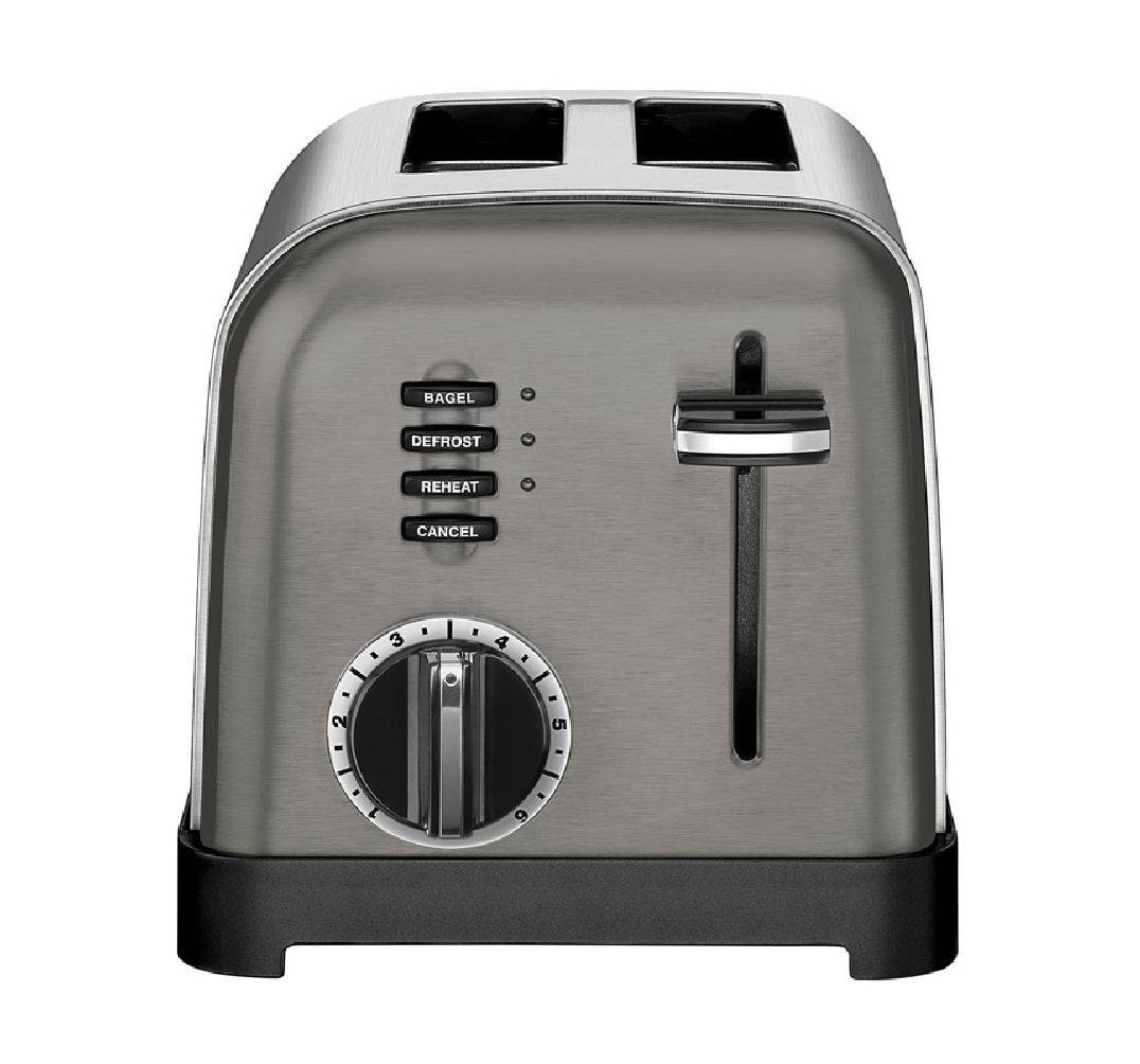 Cuisinart Cpt-160bks Stainless Steel Toaster, Silver, Polished Chrome
