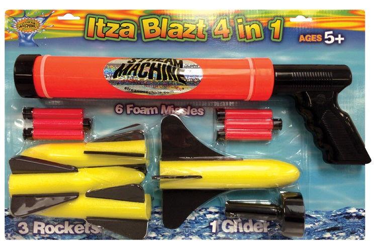 Water Sports 80035 Itzablast 4-in-1 Water And Foam Gun Combo Set, Assorted Colors