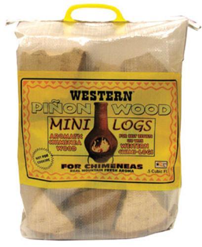 Western Digital 78104 Pinon Wood Mini Logs, 0.5 Cu. Ft.