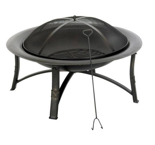 """Living Accents Srfp90 Ember Fire Pit, Round, 35"""" D"""