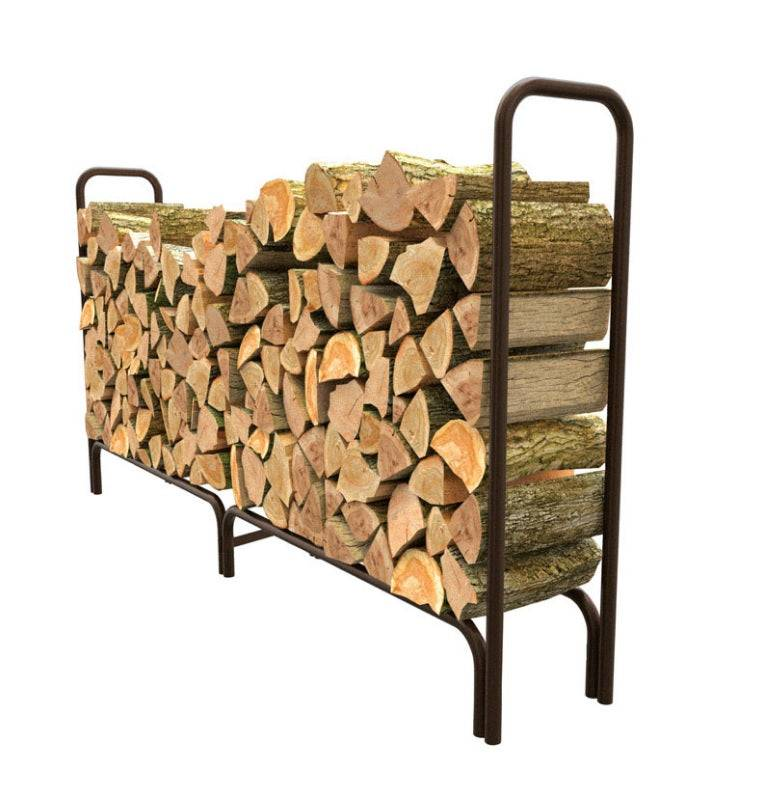 Panacea 15204 Deluxe Outdoor Log Rack, 8', Black