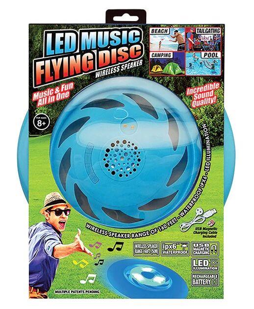 Blazing Ledz 702614 Led Music Flying Disc With Wireless Speaker