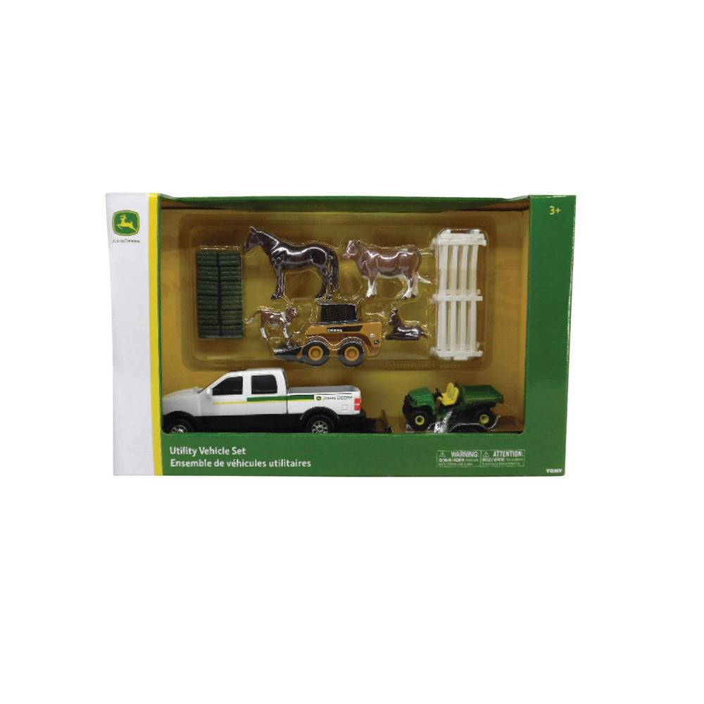 Tomy 46669 John Deere Utility Vehicle Farm Set, Plastic