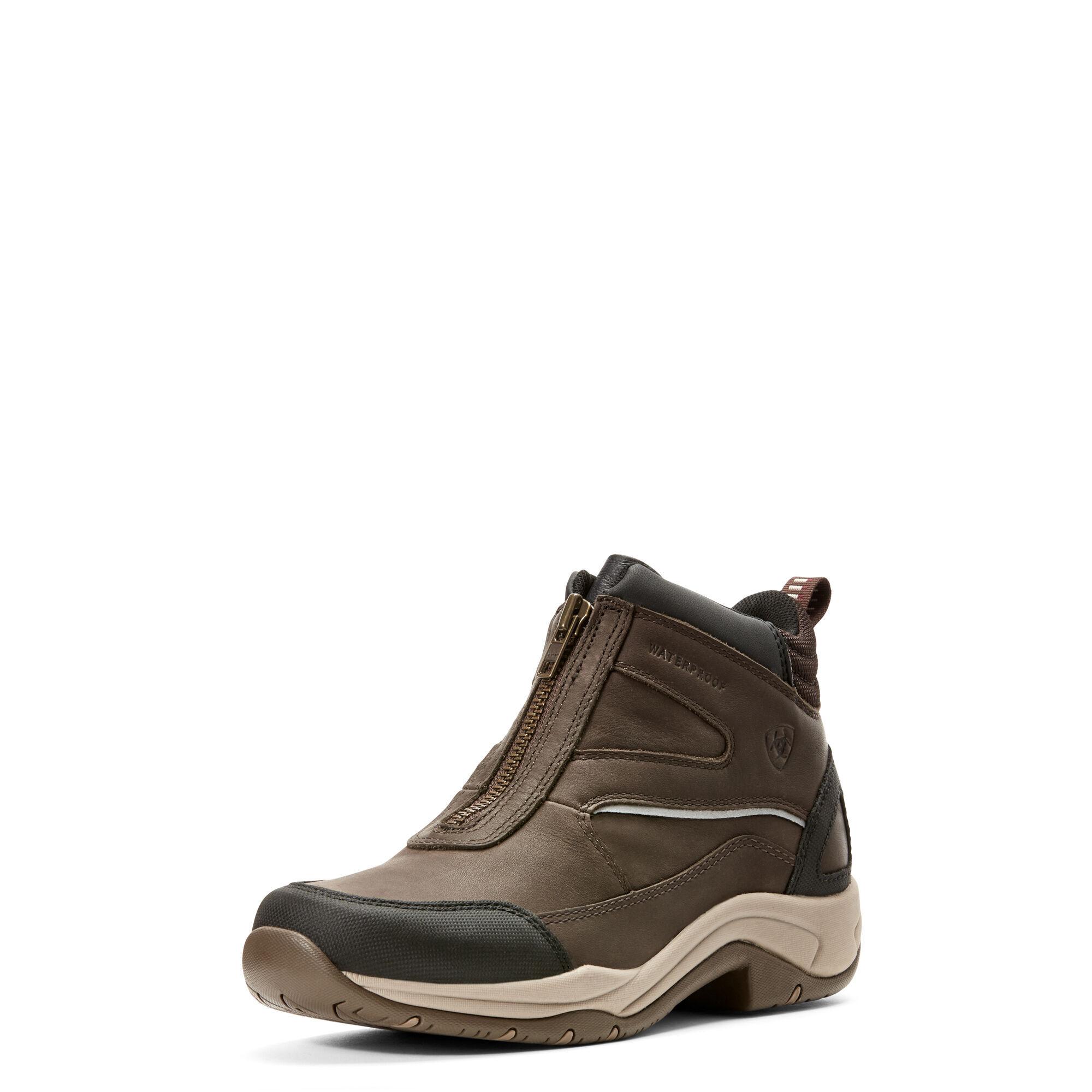 Ariat Women's Telluride Zip Waterproof Shoes in Dark Brown, Size 9 B / Medium by Ariat