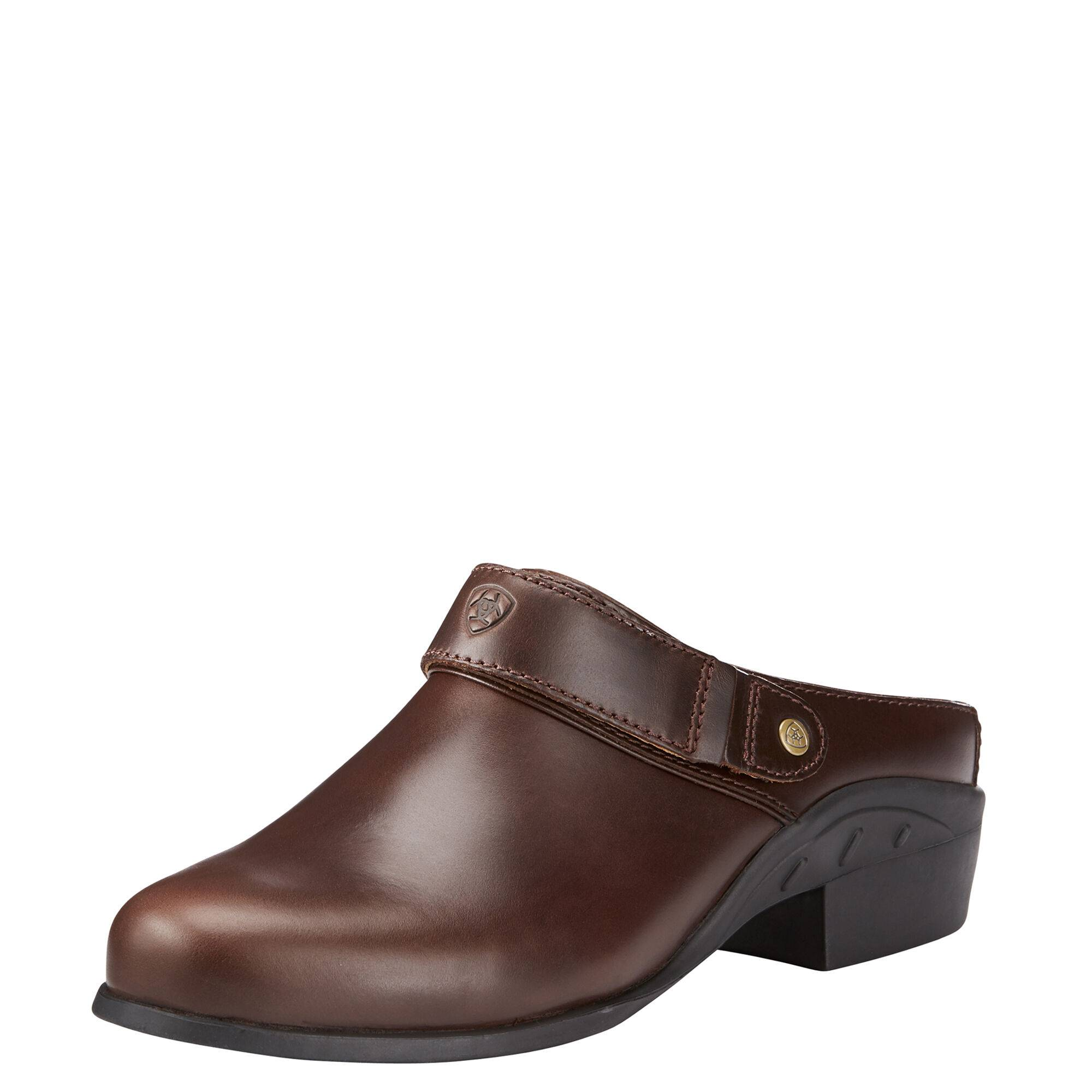 Ariat Women's Sport Mule in Waxed Chocolate Leather, Size 6.5 B / Medium by Ariat