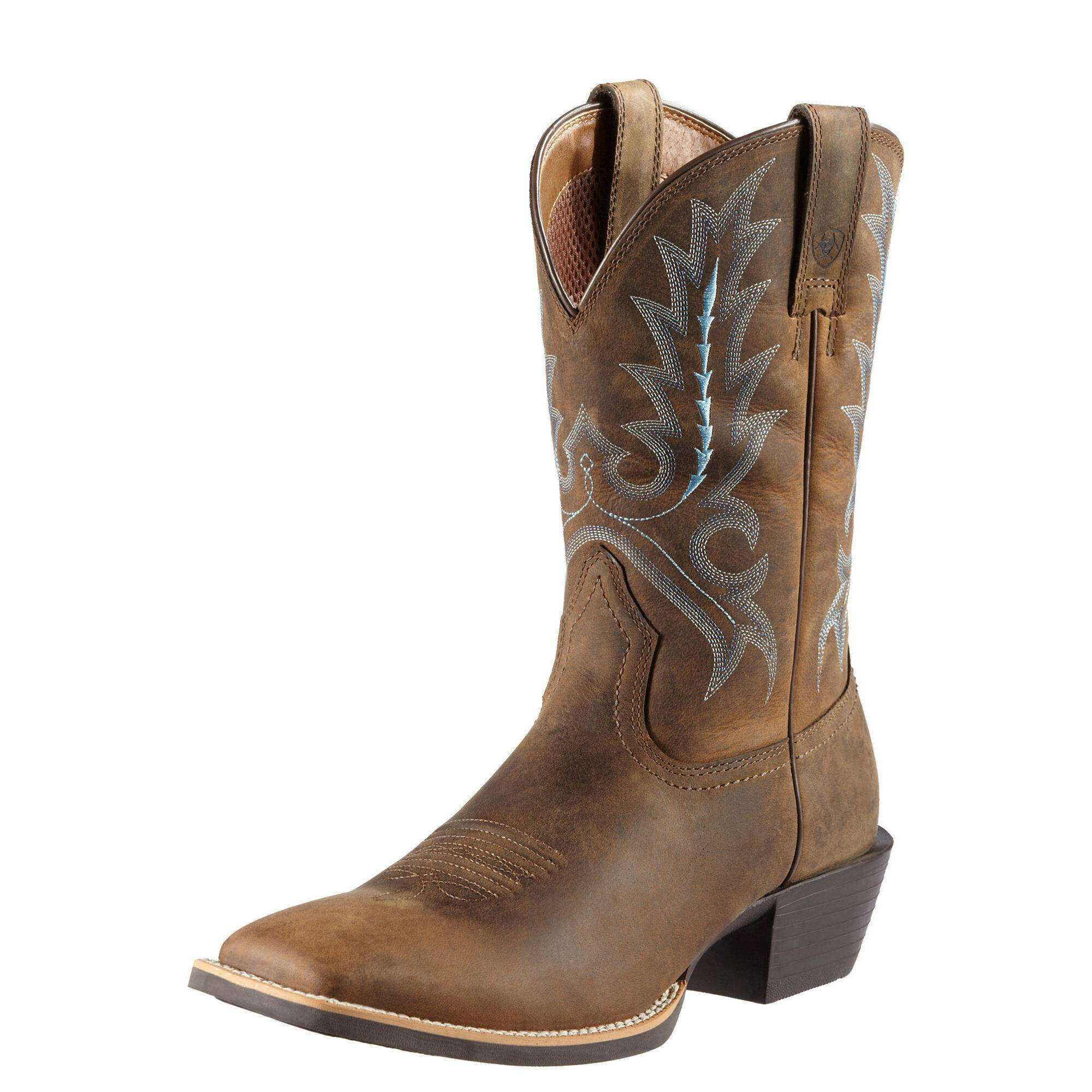 Ariat Men's Sport Outfitter Western Boots in Distressed Brown Leather, Size 7.5 D / Medium by Ariat