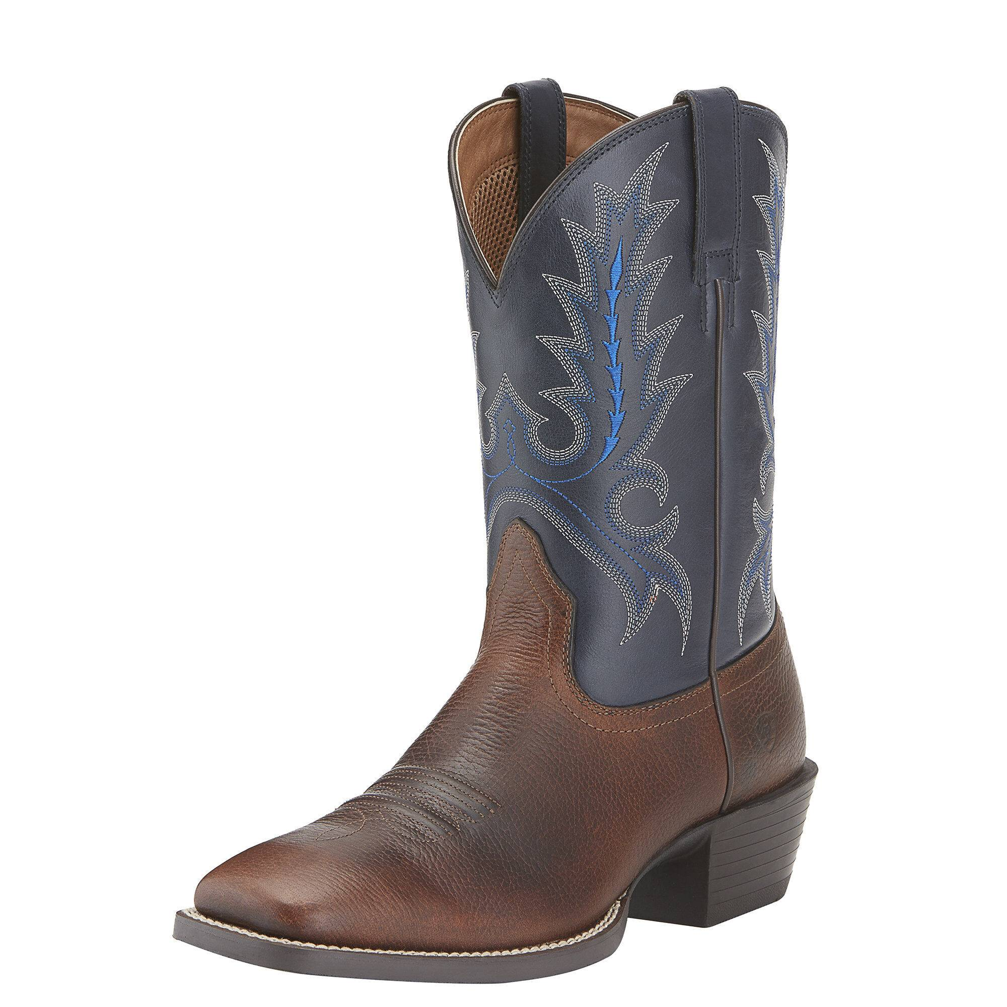 Ariat Men's Sport Outfitter Western Boots in Fiddle Brown Leather, Size 8.5 D / Medium by Ariat