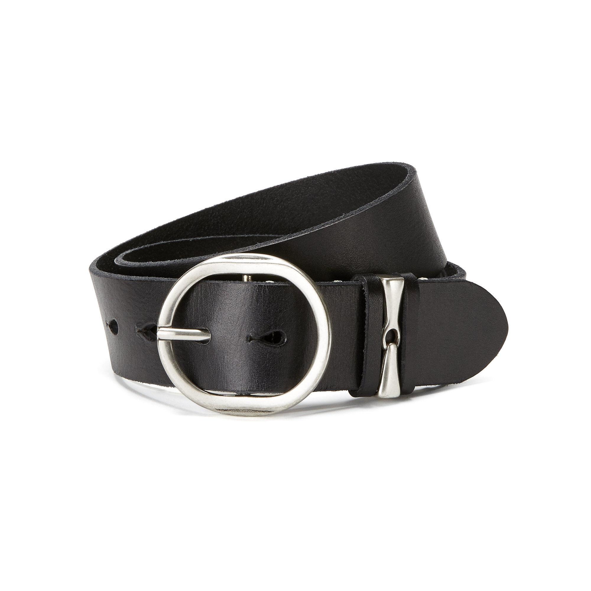 Ariat Snaffle Belt in Black Leather, Medium by Ariat