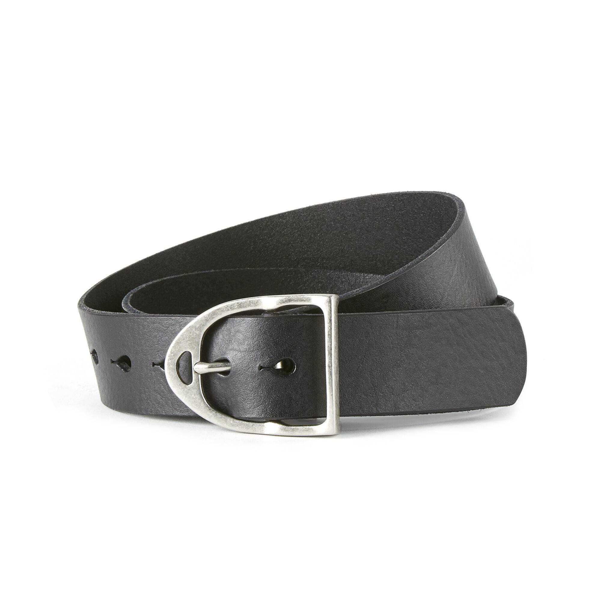 Ariat Stirrup Belt in Black Leather, X-Small by Ariat