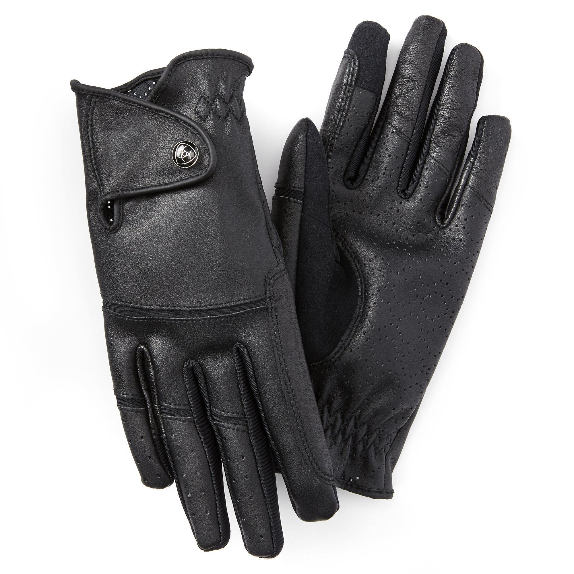 Ariat Elite Grip Gloves in Black, Size 6.5 by Ariat
