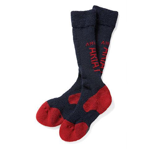 AriatTEK Alpaca Performance Socks in Blue, X-Small/Small