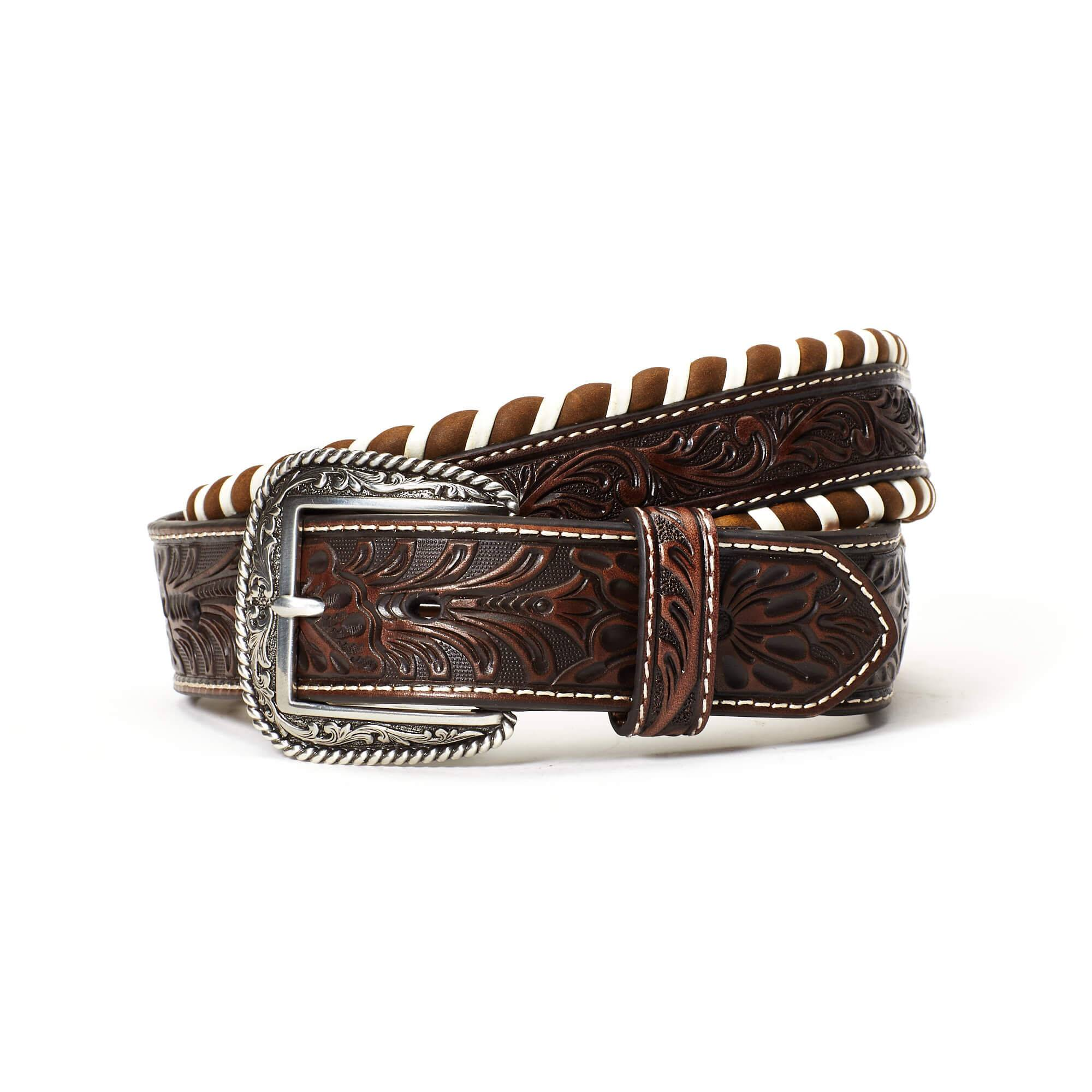 Ariat Men's Standout Belt in Brown, Size 42 by Ariat