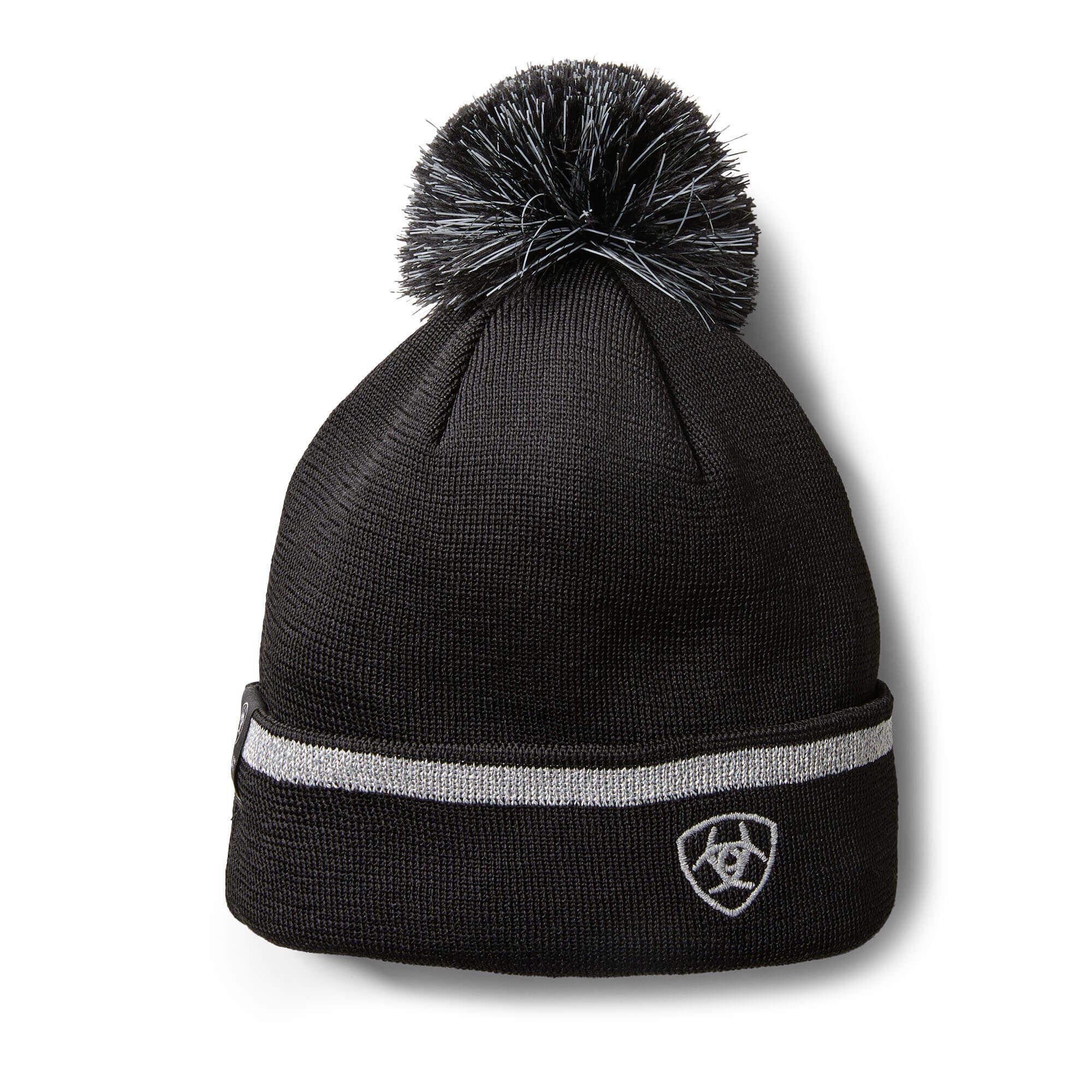 AriatTEK Reflective Beanie Hat in Black