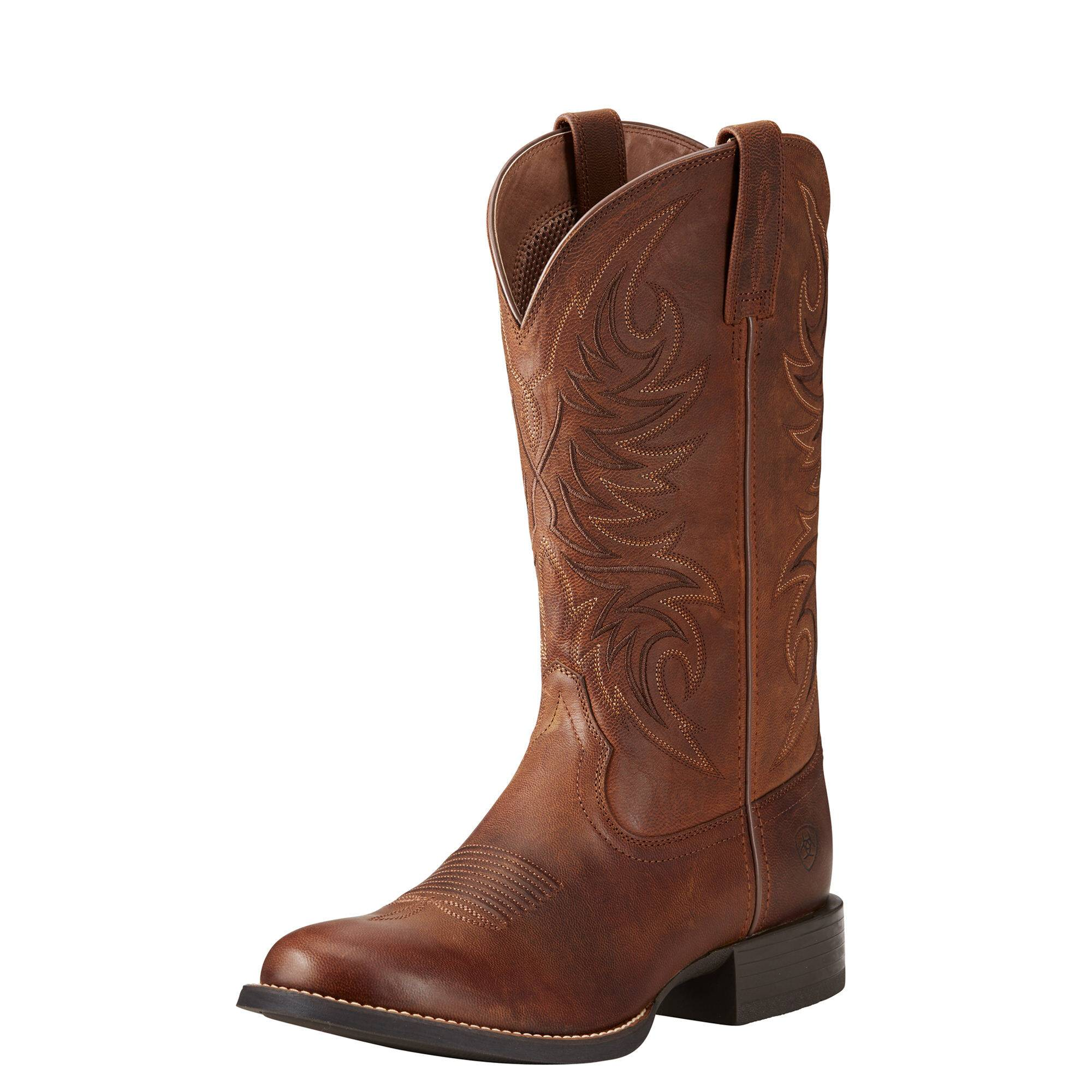 Ariat Men's Sport Horseman Western Boots in Rafter Tan Leather, Size 7.5 D / Medium by Ariat
