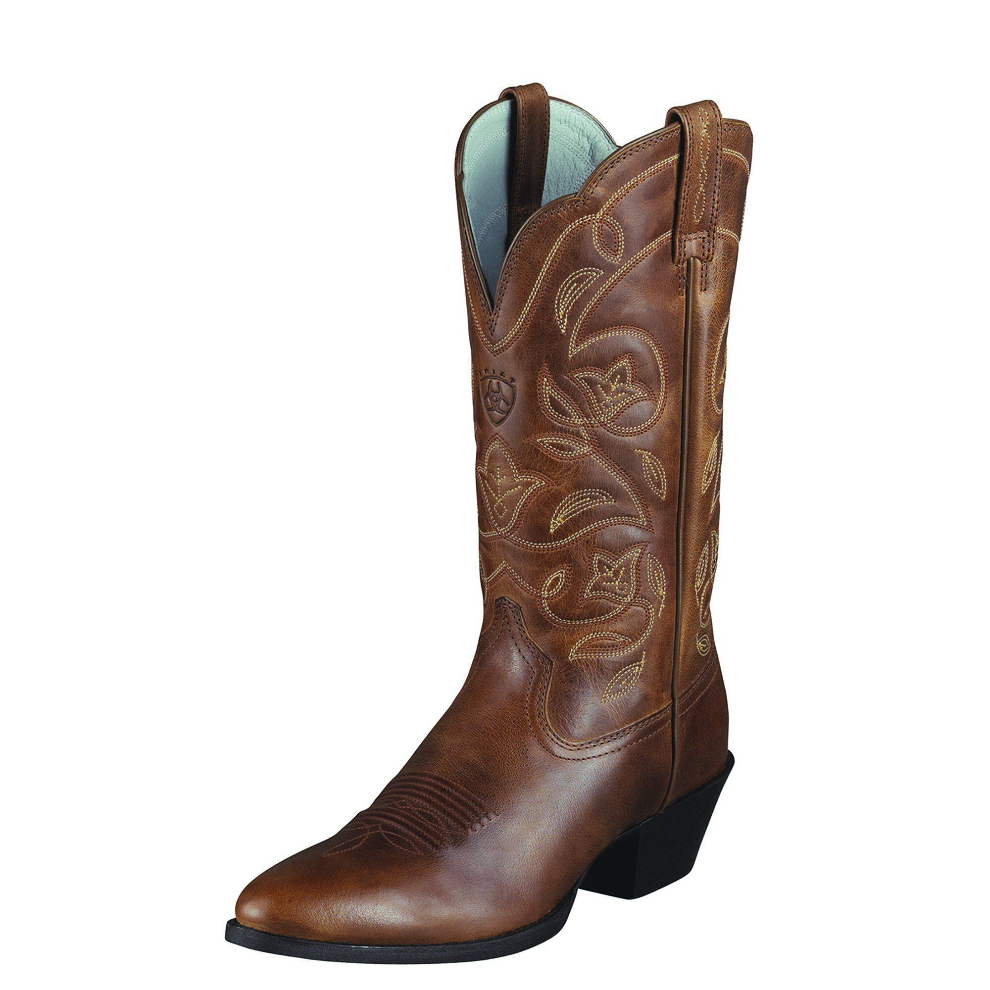 Ariat Women's Heritage R Toe Western Boots in Russet Rebel, Size 12 B / Medium by Ariat