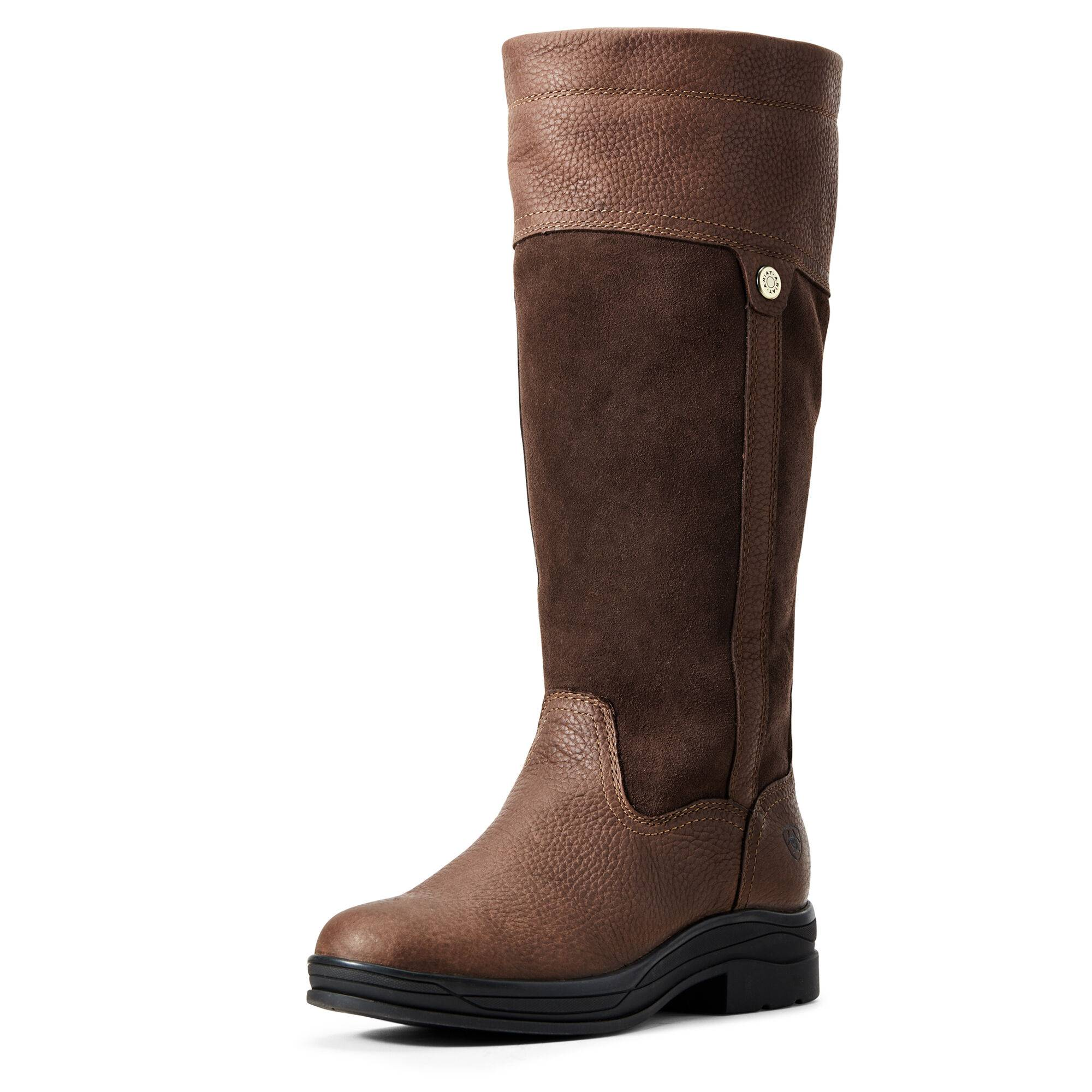 Ariat Women's Windermere II Waterproof Boots in Brown Leather, Size 6.5 by Ariat
