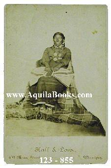Unidentified Native Woman in Traditional Clothes, Beaded Moccasins, and Jewellery. Hall & Lowe [Very Good]