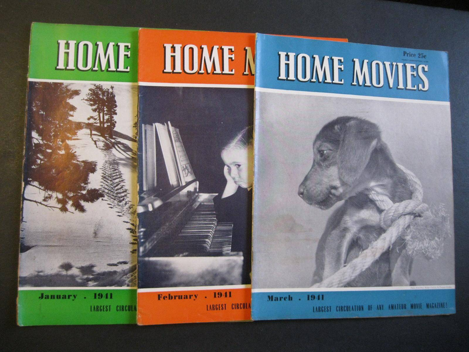 HOME MOVIES Hollywood's Magazine For The Amateur - 11 Issues From 1941 Various [Very Good] [Softcover]