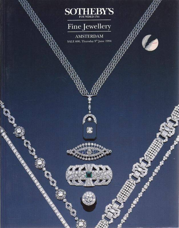 Sotheby's Amsterdam Fine Jewellery 9th June 1994 Sale 600 jewelleryz auc cat Sotheby's, Messrs. [ ] [Softcover]