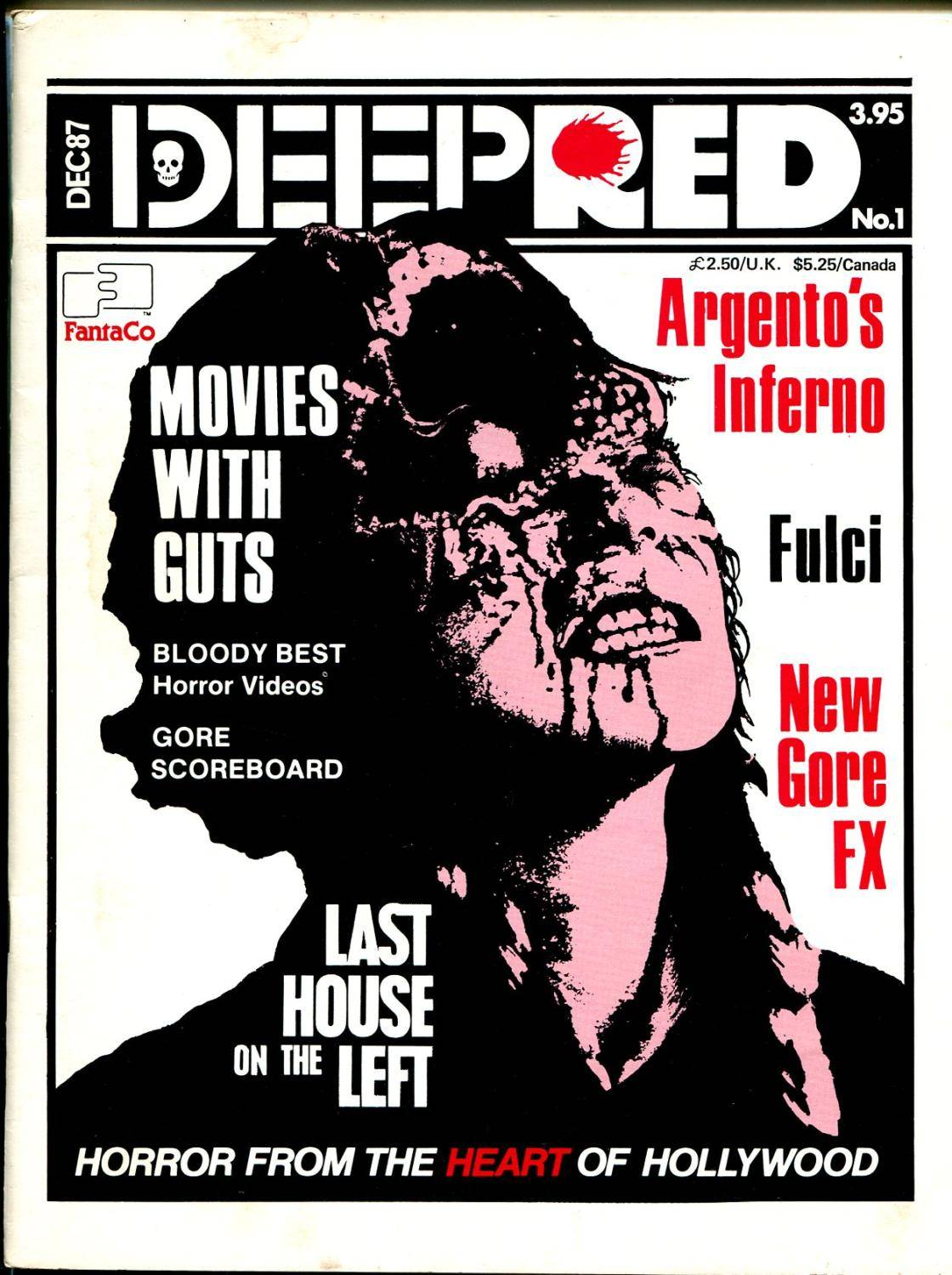 Deep Red #1 12/1987-Fantaco-horror movies-1st issue-Tobe Hooper-FN+   [Fine] [Softcover]
