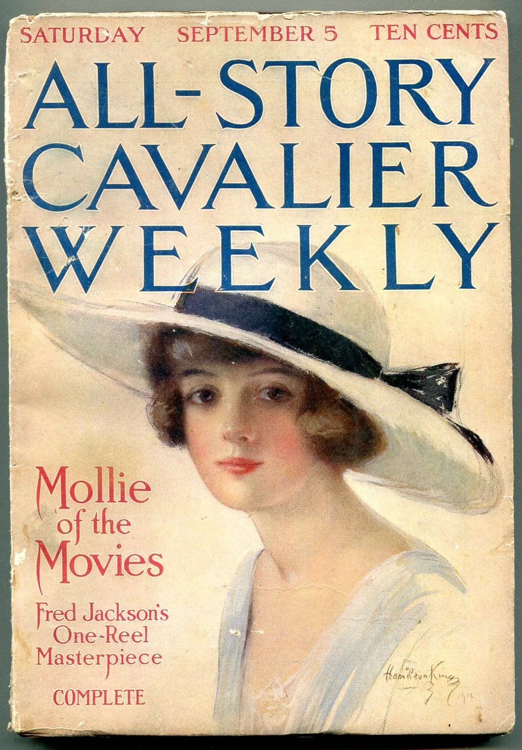 All-Story Cavalier Weekly 9/5/1914-Hamilton King Girl- Mollie of the Movies FN-   [Fine]